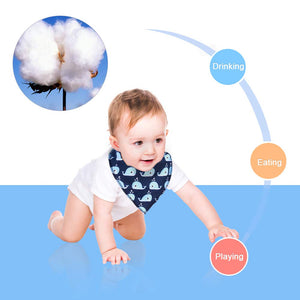 Baby Bibs 8 Pack Soft and Absorbent