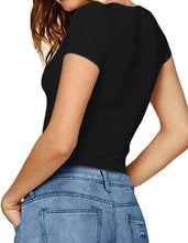 Load image into Gallery viewer, Women Round Neck T Shirts Basic Bodysuits