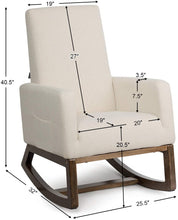 Load image into Gallery viewer, Rocking Chair Upholstered For Breastfeeding