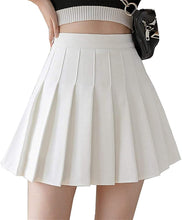 Load image into Gallery viewer, Women High Waisted Plain Pleated Skirt