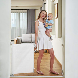 Indoor Outdoor Retractable Baby Gate