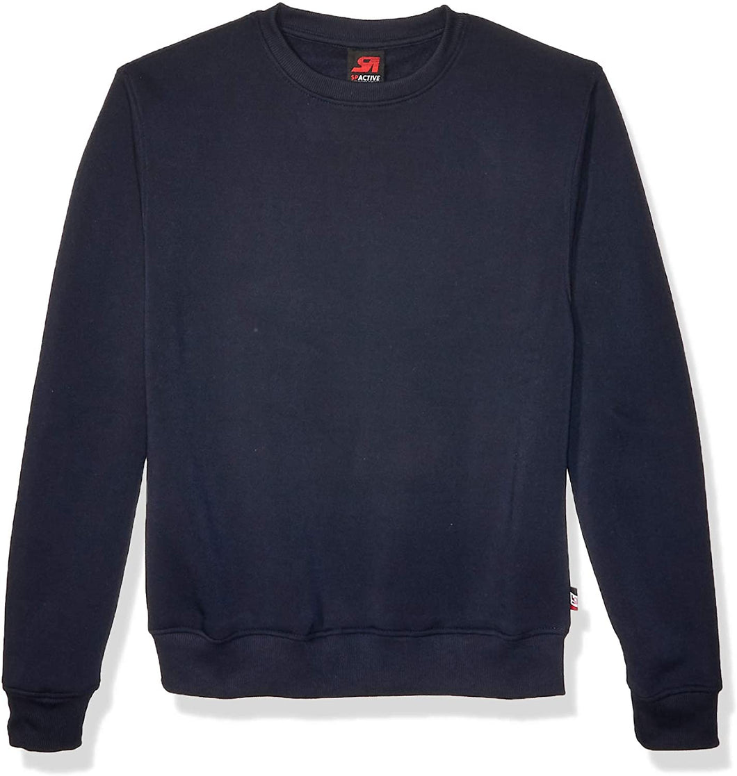 Men Active Basic Crew Neck Sweatshirt