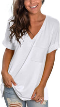 Load image into Gallery viewer, Women Basic V Neck  Casual Tops