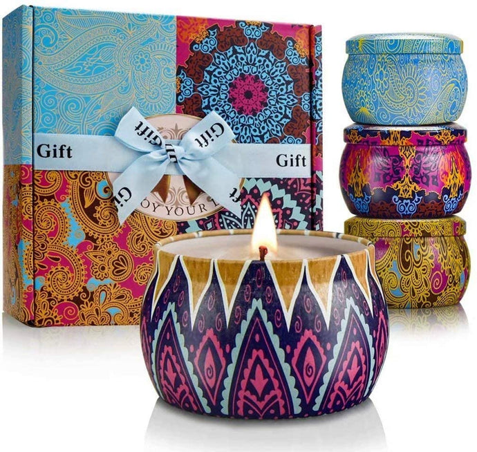 Natural Soy Wax Travel Tin Candles
