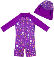 Load image into Gallery viewer, Baby Girls' Swimwear One Piece Sun Protection Suits
