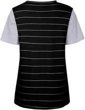 Load image into Gallery viewer, Women Striped Color Block Short Tops