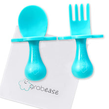 Load image into Gallery viewer, GRABEASE First Self Feed Baby Utensils