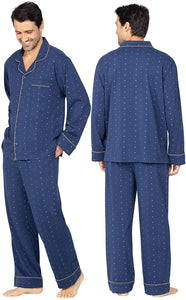 Classic Men Pajamas Cotton