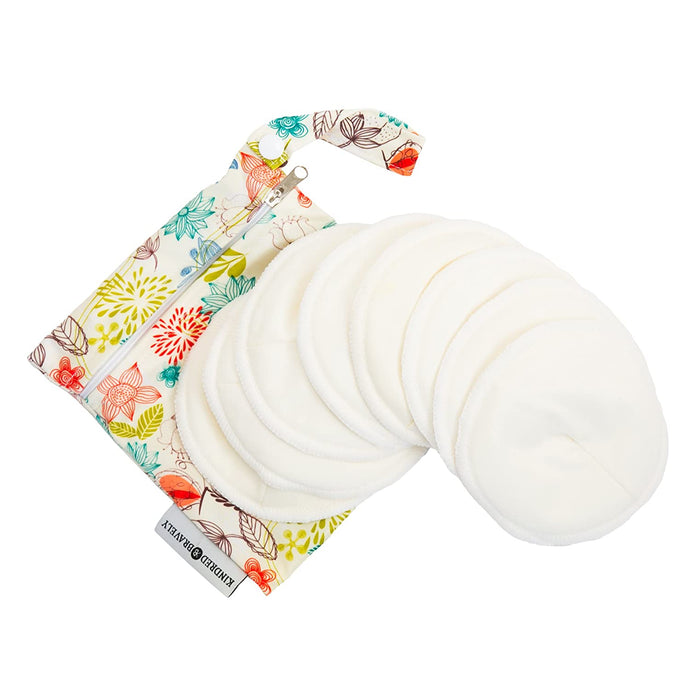 Organic Washable Breast Pads 8 Pack