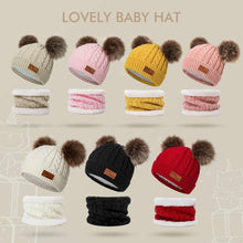 Load image into Gallery viewer, Toddler Winter Hat Scarf Set