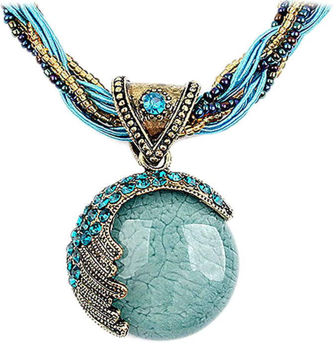 Women Lady Retro Vintage Necklace