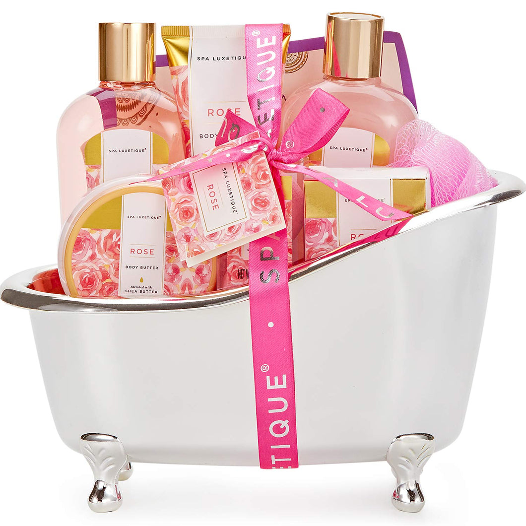 Rose Bath Spa Gift Baskets for Mum