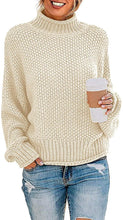 Load image into Gallery viewer, Women Turtleneck Batwing Sleeve Jumper