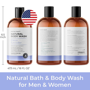 Natural Body Wash Lavender & Citrus