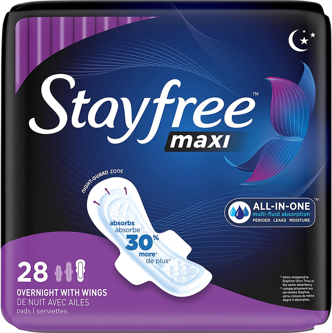 Maxi Overnight Pads with Wings