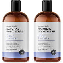 Load image into Gallery viewer, Natural Body Wash Lavender & Citrus