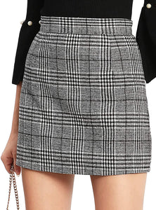 Women High Waist Bodycon Mini Skirt