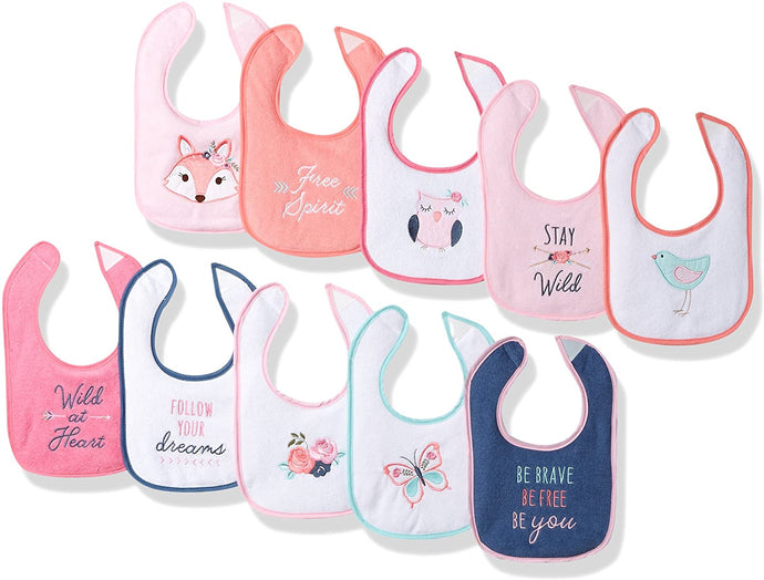 Unisex Baby Cotton Terry Drooler Bibs