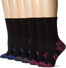 Load image into Gallery viewer, Women 6-Pack Performance Athletic Crew Socks