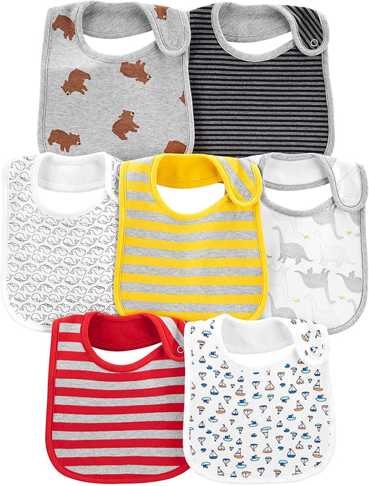 7-Pack Teething Bibs