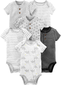 6-Pack Short-Sleeve Bodysuit