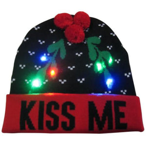 Christmas Designs LED Light Up Knitted Beanie Hat