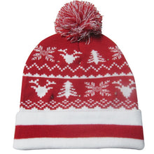 Load image into Gallery viewer, Christmas Designs LED Light Up Knitted Beanie Hat