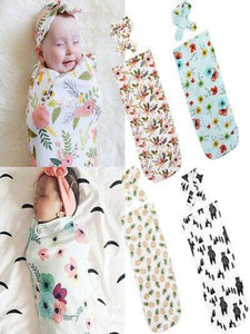 Newborn Cocoon Swaddle Wrap with Headband