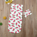 Load image into Gallery viewer, Newborn Cocoon Swaddle Wrap with Headband