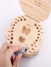 Load image into Gallery viewer, Baby Tooth Wooden Box Organizer