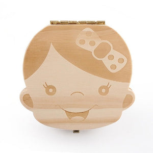Baby Tooth Wooden Box Organizer