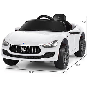 Kid's Licensed Maserati  Remote Control Electric Ride-on Car