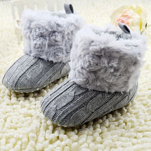 Load image into Gallery viewer, Baby Winter Warm Fleece Knit Boots