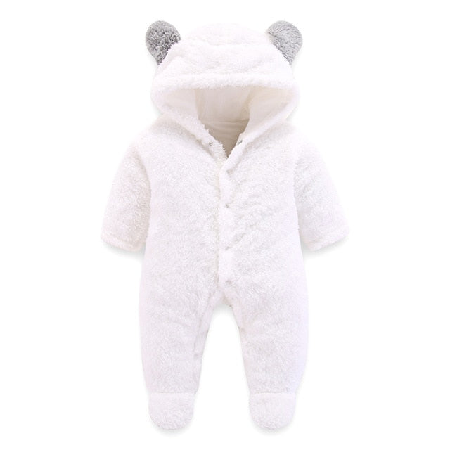 3D Bear Ear Romper Jumpsuit