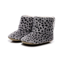 Load image into Gallery viewer, Baby Non-slip Soft-Soled Faux Fur Knitted Boots