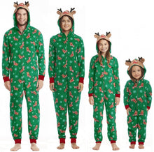 Load image into Gallery viewer, Christmas Hooded Deer Romper Family Matching Jumpsuits