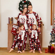 Load image into Gallery viewer, Christmas Elk Round Neck Family Two-piece Pajamas