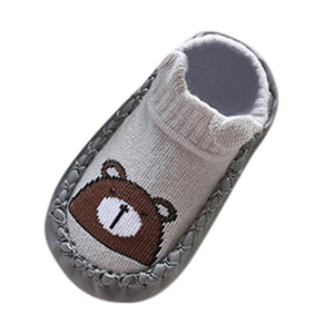 Cartoon Animal Design Anti-slip Slipper Socks