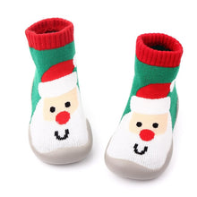 Load image into Gallery viewer, Christmas Children Rubber Soles Shoes Socks