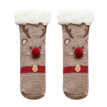 Load image into Gallery viewer, Kids Christmas Thicken Plush Socks