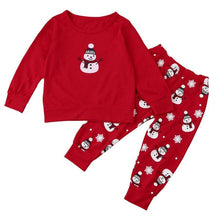 Load image into Gallery viewer, Red Christmas Kid's Pair Outfit