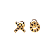 Brinco XoXo Ouro Amarelo e Diamantes Negros (Hugs and Kisses)