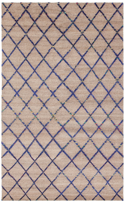 Chandra Rugs Aarushi Beige/Blue Hand Knotted - HomeAreaRugs.com