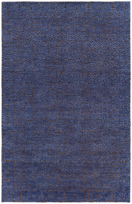 Chandra Rugs ASHTON Blue/Brown Hand Knotted Wool - HomeAreaRugs.com