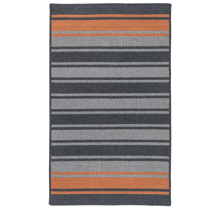 Colonial Mills Frazada Stripe Charcoal and Orange - HomeAreaRugs.com