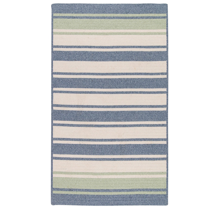 Colonial Mills Frazada Stripe Light Blue and Mint - HomeAreaRugs.com