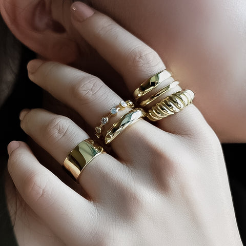 Stacking rings of Kategory Jewelry
