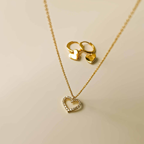 Gift Set: Love Necklace and Love Earrings