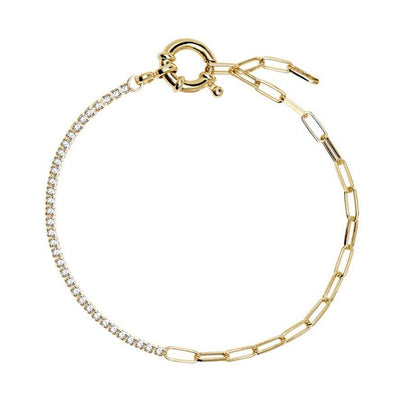 Asymmetrical Chain Bracelet - Kategory Jewelry