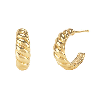 Twisted Dome Stud Earrings - Kategory Jewelry
